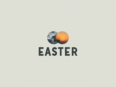 Easter Concept - 2 overlap type resurrection christ easter
