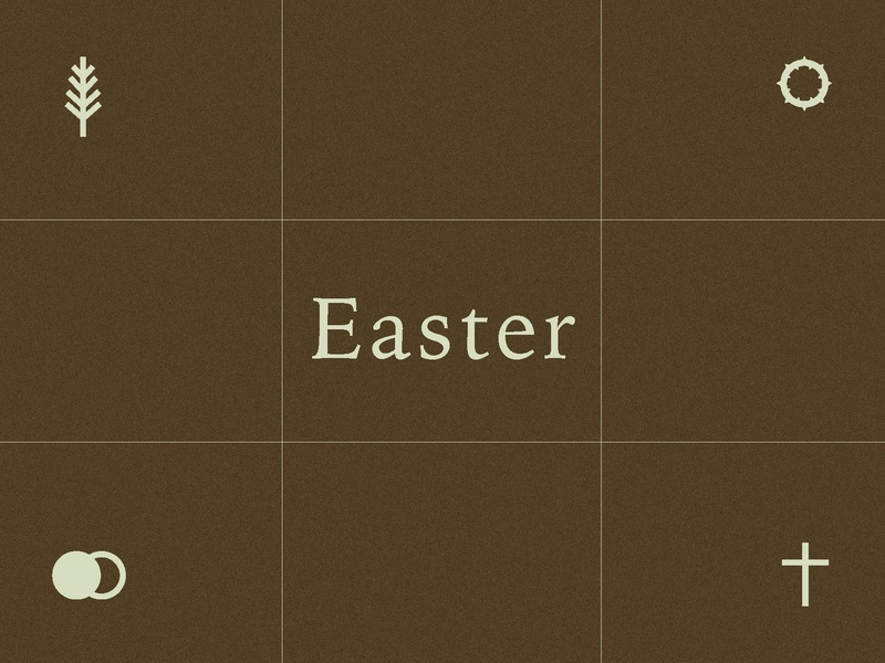 Easter Concept - 3 icon type resurrection christ easter