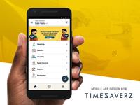 Redesigning the Timesaverz Customer App
