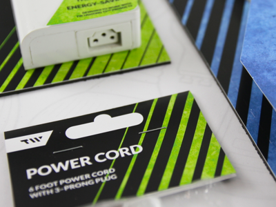 TW–T5 packaging preview lime green electric lines linear packaging preview draft cobalt chartreuse