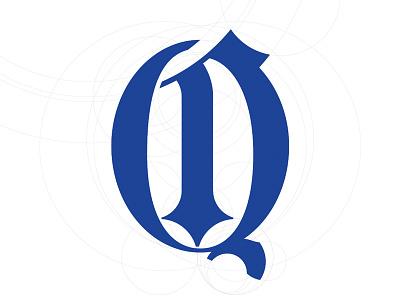 Circle Q Experiment circles letter letterform concentric blackletter q cirque circle