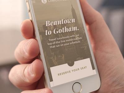Luxury Coach Concept app mobile website nyc boston charter bus coach motor motorcoach luxury