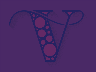 Vapor and Bubbles monogram concept violet purple circles circle typography bubbles vapor