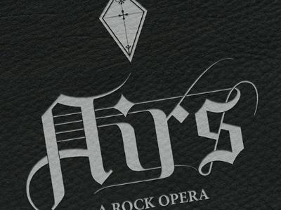 Airs - A Rock Opera rock opera identity logo leather black germanic