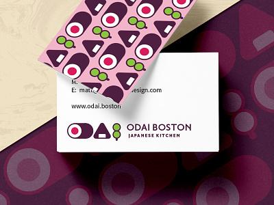 ODAI Concept logo onigiri dango sushi japanese japanese food brand branding concept