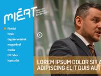 MIERT.ro homepage header