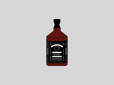 Jk bottle illustration vector daniels jack
