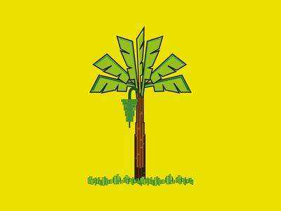 Vazha /  Banana Tree illustrator line vector kerala vazha tree banana