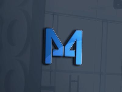 M design illustrator logo 3d 4 m logo