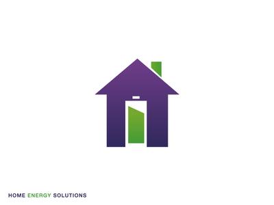 Home Energy energy home icon logo vector illustrator