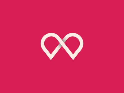 Esme e love icon logo illustrator