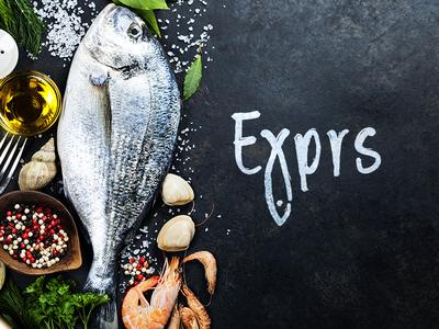 Exprs graphic  design branding exprs fish logo fish vector illustrator