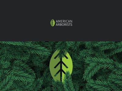 American Arborists branding vector tree arborists american logo icon illustrator