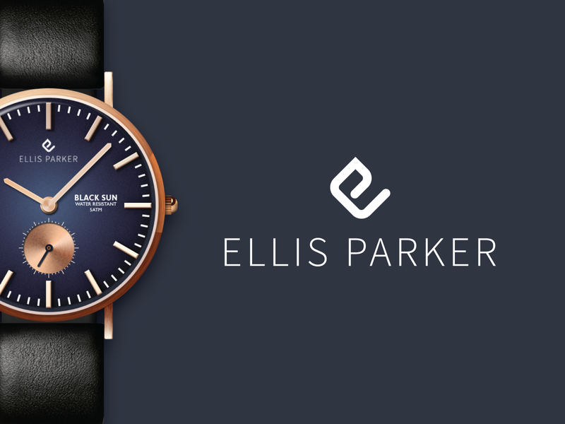 Ellis Parker watches watch vector branding logo illustrator