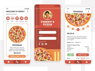 Pizza Delivery App Design
