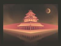 The northwest corner tower of the Forbidden City