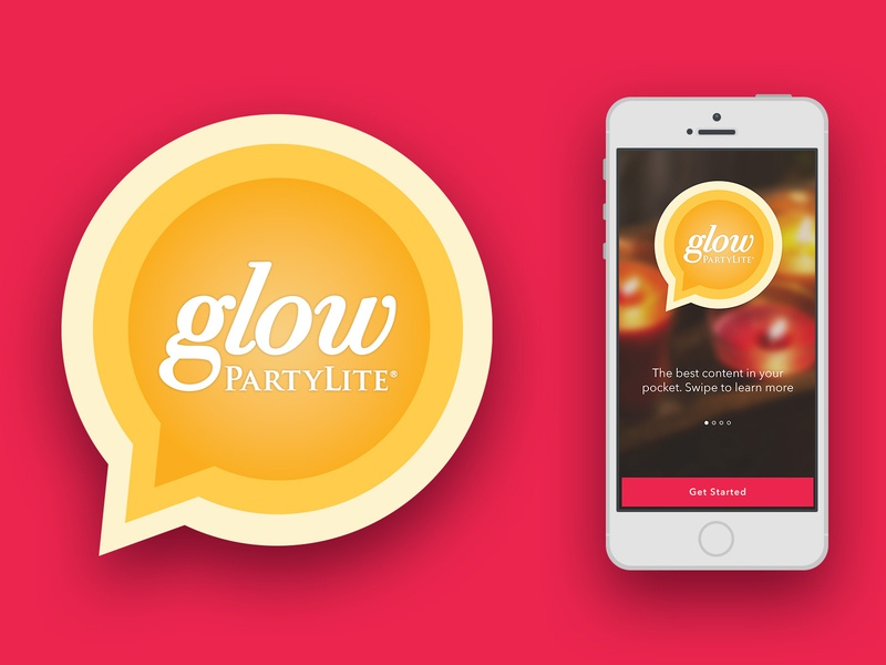 Glow logo branding design