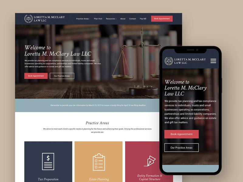 Legal/Accounting Website website web ux ui design