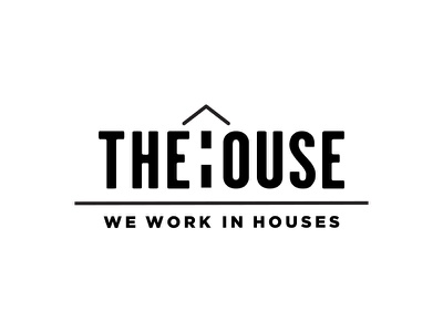 The House: We Work in Houses Logo house logo portfolio condensed