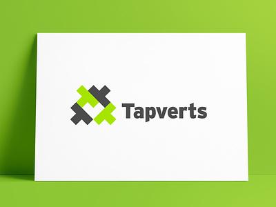 Tapverts Logo Designed by The Logo Smith negativespace logos logo marks logo designer brand identity typography branding identity logo portfolio logo design