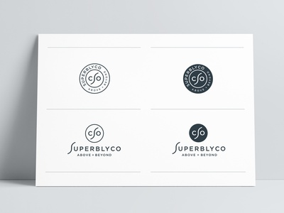 SuperblyCo Primary Logo Versions Designed by The Logo Smith brand identity logo marks logo designer logos typography branding identity logo portfolio logo design