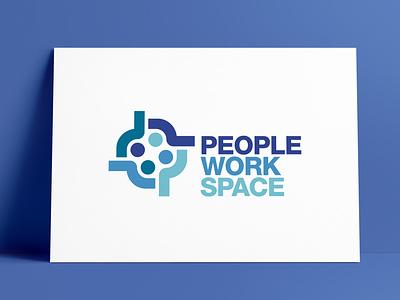 PeopleWorkSpace Logo Designed by The Logo Smith meetings workspace people brand identity logos logo marks identity logo designer typography logo portfolio logo design