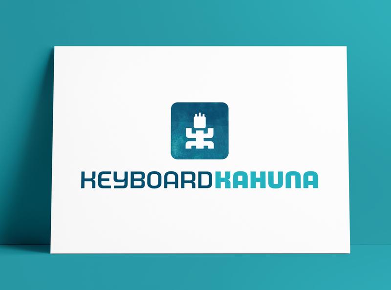 Keyboard Kahuna Logo Portrait MockUp Poster The Logo Smith logo designer icon brand identity logos typography branding identity portfolio logo logo design