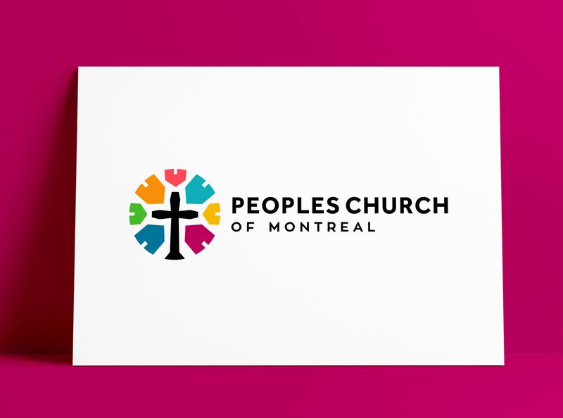 Peoples Church of Montreal Logo Designed by The Logo Smith montréal montreal church branding church logo church logodesign brand logo designer brand identity logos typography branding identity portfolio logo logo design