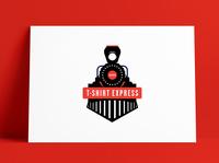 T-Shirt Express Ohio Logo Designed by The Logo Smith trains vintage logo t-shirt steam train locomotive train brand brand identity logo marks logo designer typography branding identity portfolio logo logo design