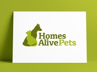 HomesAlivePets Logo & Brand Identity Redesign by The Logo Smith cat dog petstore petshop brand refresh brand identity update logo redesign typography logo marks logo designer logos brand identity branding identity logo portfolio logo design