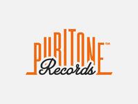 Puritone records logotype design by the logo smith