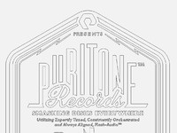 Puritone records logo design keyline version by the logo smith 600px