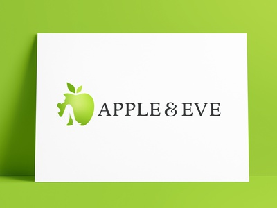 Apple & Eve Logo Designed by The Logo Smith illustrator negative space apple design brand logo marks icon logo designer brand identity logos typography branding identity portfolio logo logo design
