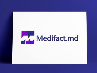 Medifact.md Logo Designed by The Logo Smith initials quote marks speech bubbles medical negativespace brand logo marks logo designer brand identity logos typography branding identity portfolio logo logo design