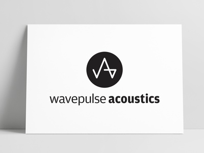 Wavepulse Acoustics Logo Designed by The Logo Smith freelance design identity designer identity design branding design brand design wavepulse waveform design brand logo marks logo designer brand identity logos typography branding identity portfolio logo logo design