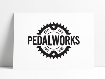 PedalWorks Bike Shop Logo Designed by The Logo Smith modern vintage identity design identity designer brand design bike shop pedal bike logo bike retro vintage logo marks logo designer brand identity logos typography branding identity logo portfolio logo design