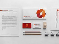 Kerr logo and brand identity design stationery designs