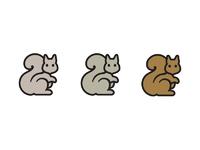 Squirrel 1 logomark and ios app icon design by the logo smith