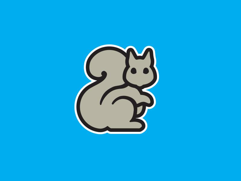Squirrel logomark and ios app icon design by the logo smith