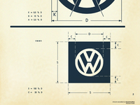 Vintage VW Logo Specification Sheet Recreated