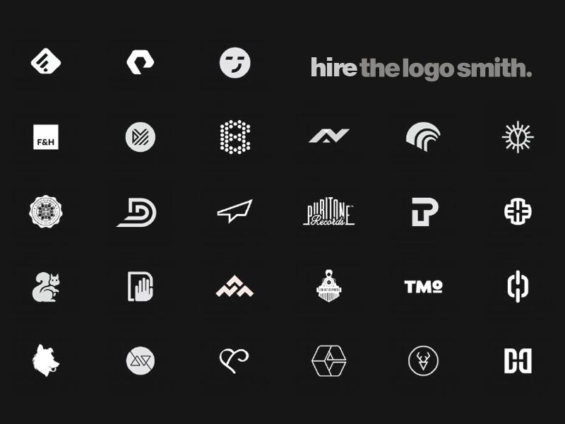 The Logo Smith's Dribbble Playing Card logotype identity branding portfolio design logo