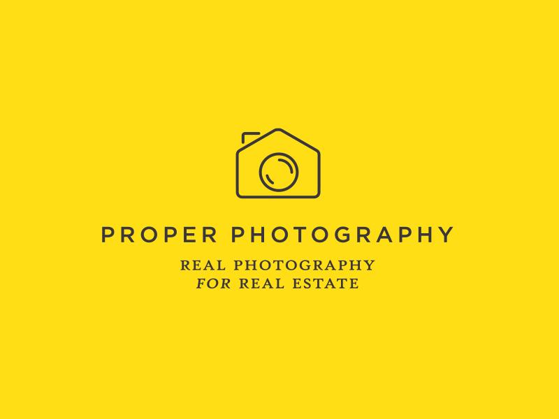 Real Estate Photography Logo Design yellow serif sans serif photographer estate agents real estate identity branding portfolio design logo