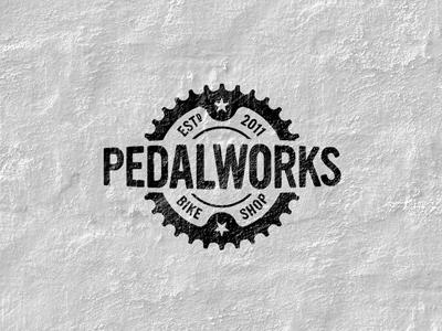 Pedalworks Logo modern vintage mono logo design branding identity portfolio