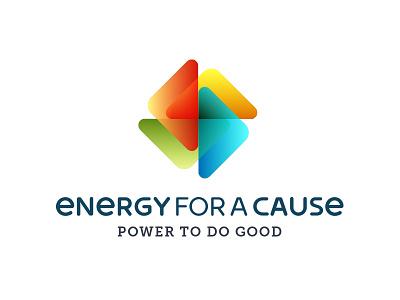 Energy For A Cause Logo Design charity power renewable energy identity branding logo design portfolio logo