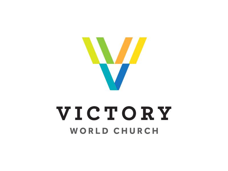 Victory World Church (Rebranding) Logo Design religion cross church identity branding logo design portfolio logo