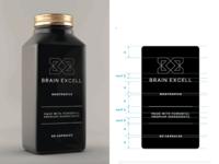 Brain Excell Nootropics Logo & Packaging Design