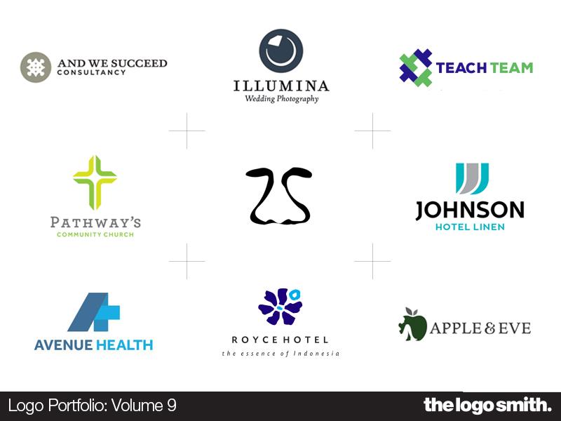 Logo Portfolio Cards Volume 9 By The Logo Smith symbols icons typography logo marks identity branding logo design portfolio logo