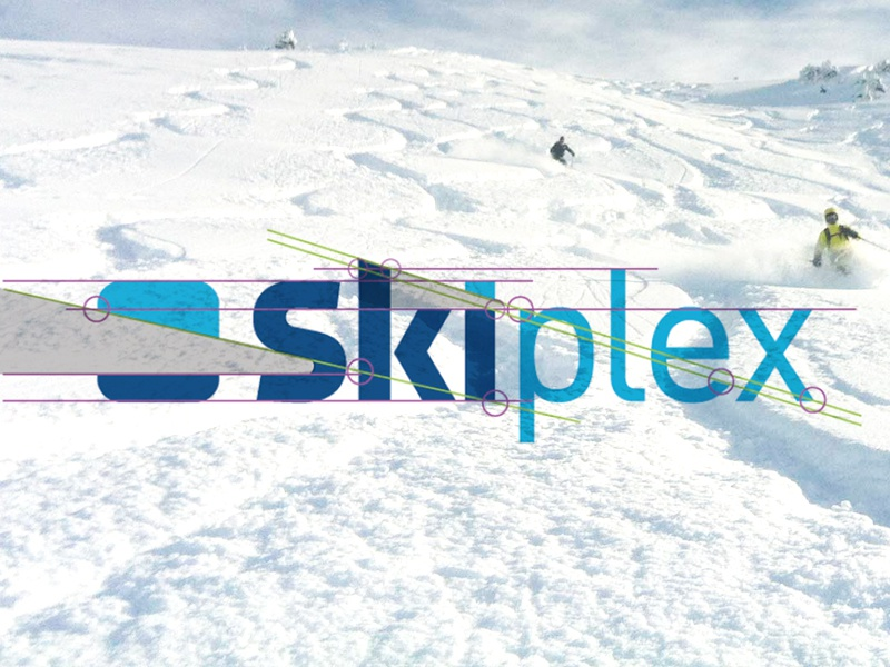 Skiplex indoor skiing logo designed by the logo smith 1