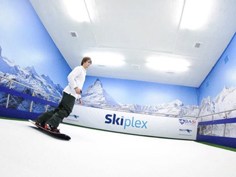 Skiplex indoor skiing logo designed by the logo smith 3