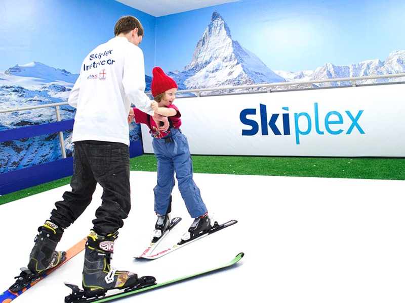 Skiplex indoor skiing logo designed by the logo smith 7